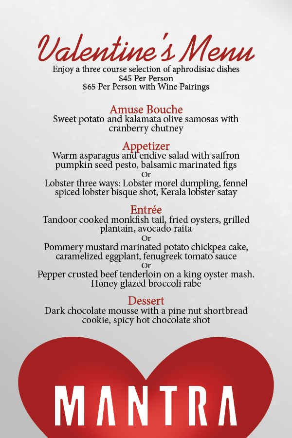 A Tale of Two Valentine's Day Menus |