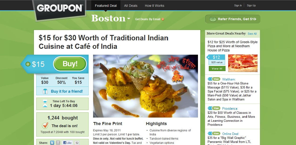 Groupon offers spotify coupon code free for Akbar cuisine of india coupon